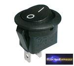 CZ-02620014-Billenő kapcsoló 2pol./2pin ON-OFF 250V/6A (kerekített) - fekete