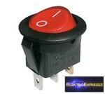 CZ-02620015-Billenő kapcsoló 2pol./3pin ON-OFF 250V/6A (kerekített) - átlátszó piros