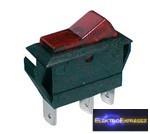 CZ-02620045-Billenő kapcsoló 2pol./3pin ON-OFF 20A/12VDC - átlátszó piros