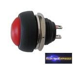 CZ-02630044-Nyomógombos kapcsoló ON-(OFF) (kerekített) piros