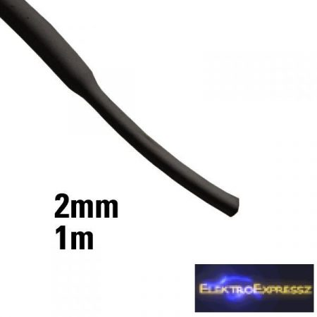 ET-6102FK 2mm-es zsugorcső, Fekete