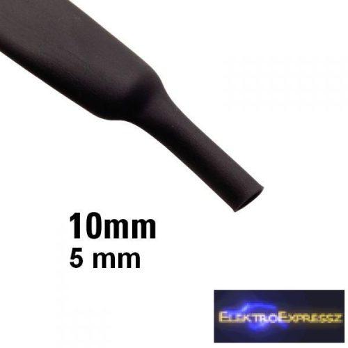 ET-6110FK 10mm-es zsugorcső, fekete