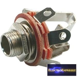 ET-4048 Sztereo jack alzat 6,3mm,nyitó érintkezőkkel
