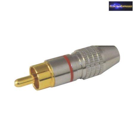 ET-2578 RCA aranyozott dugó, 6mm-es kábelhoz.