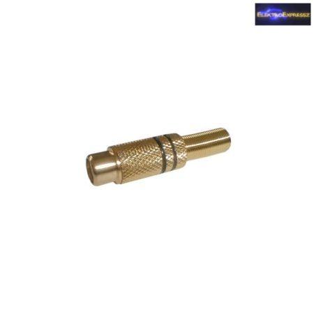 ET-2558 RCA aljzat, aranyozott csatlakozóval. 5-6mm-es kábelra.
