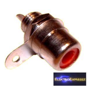 ET-2515 RCA beépíthető aljzat, piros jelöléssel.