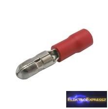 CZ-03360059-Szigetelt hengeres saru 4mm Piros PVC szigeteléssel 0.5-1.5mm
