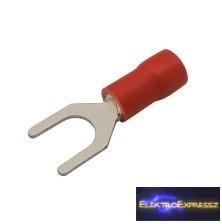 CZ-03360119-Szigetelt villás saru 5.3mm, 0.5-1.5mm Piros