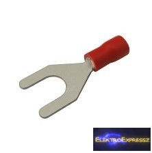 CZ-03360120-Szigetelt villás saru 6.5mm, 0.5-1.5mm Piros