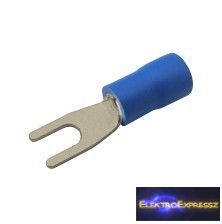 CZ-03360121-Szigetelt villás saru 3.2mm, 1.5-2.5mm Kék