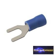 CZ-03360122-Szigetelt villás saru 4.3mm, 1.5-2.5mm Kék