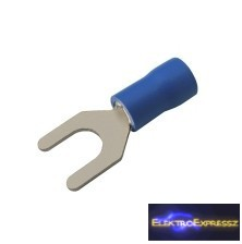 CZ-03360123-Szigetelt villás saru 5.3mm, 1.5-2.5mm Kék