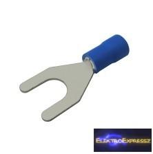 CZ-03360124-Szigetelt villás saru 6.5mm, 1.5-2.5mm Kék