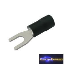 CZ-03360125-Szigetelt villás saru 4.3mm, 2.5-4.0mm Fekete