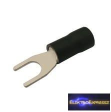 CZ-03360126-Szigetelt villás saru 5.3mm, 2.5-4.0mm Fekete