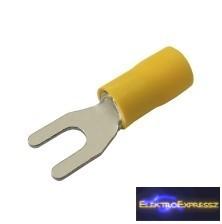 CZ-03360128-Szigetelt villás saru 4.3mm, 0.4-6.0mm Sárga