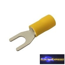 CZ-03360129-Szigetelt villás saru 5.3mm, 0.4-6.0mm Sárga
