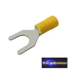 CZ-03360131-Szigetelt villás saru 8.4mm, 0.4-6.0mm Sárga