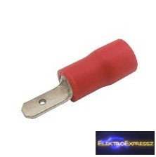CZ-03360132-Szigetelt csúszósaru 2.8mm, 0.5-1.5mm Piros
