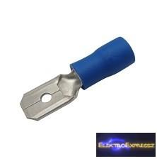 CZ-03360136-Szigetelt csúszósaru 6.3mm, 1.5-2.5mm Kék
