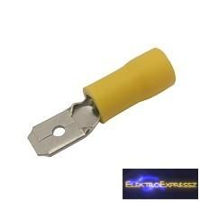 CZ-03360137-Szigetelt csúszósaru 6.3mm, 4.0-6.0mm Sárga