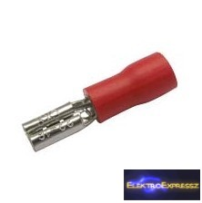 CZ-03360138-Szigetelt csúszósaru 2.8mm, 0.5-1.5mm Piros