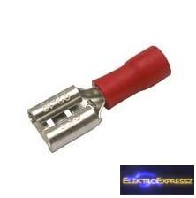 CZ-03360140-Szigetelt csúszósaru 6.3mm, 0.5-1.5mm Piros