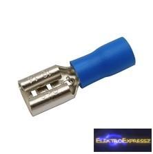 CZ-03360143-Szigetelt csúszósaru 6.3mm, 1.5-2.5mm Kék