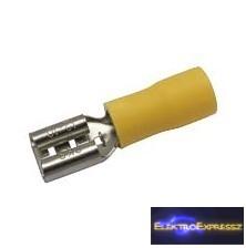 CZ-03360144-Szigetelt csúszósaru 6.3mm, 4.0-6.0mm Sárga