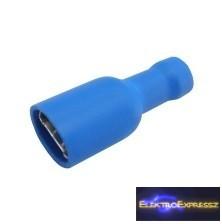 CZ-03360146-Szigetelt csúszósaru aljzat 6.3mm, 1.5-2.5mm kék