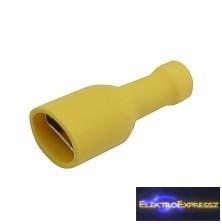 CZ-03360147-Szigetelt csúszósaru aljzat 6.3mm, 4.0-6.0mm sárga