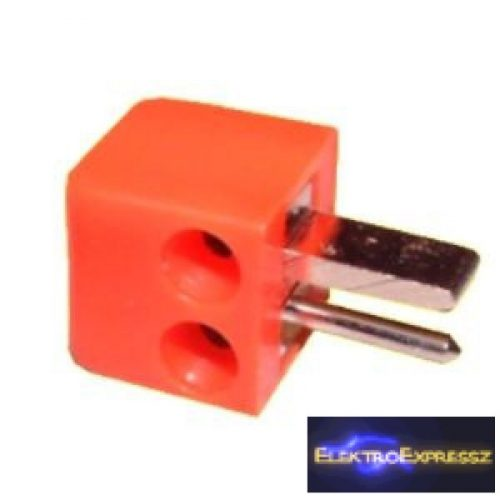ET-4508 Hangszóró dugó. Piros színű.