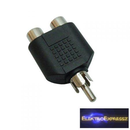 ET-18022 RCA dugó -> 2 RCA aljzat adapter