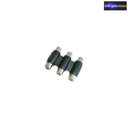 ET-SA0057 3 RCA toldó aljzat - aljzat adapter