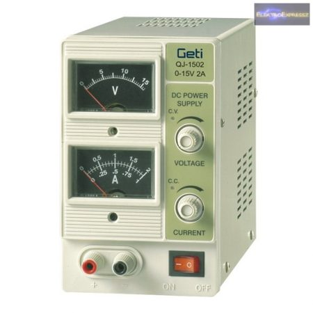 Labor tápegység Geti QJ1502A 0-15V / 0-2A