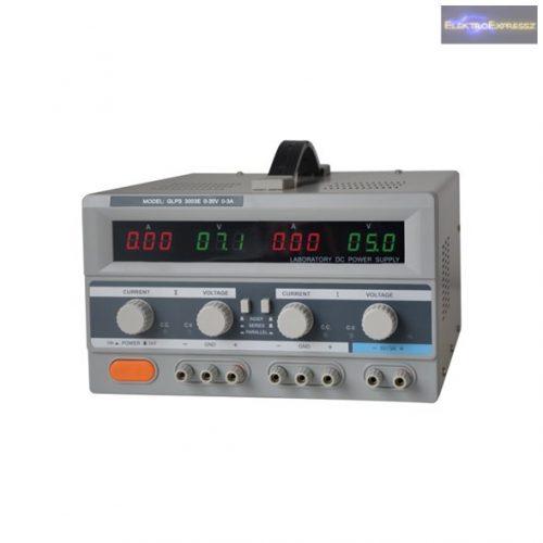 Labortápegység GLPS 2x0-30V/ 0-3A+ (5V-3A)
