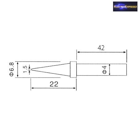 CZ-06540070 Tartalék pákahegy (ZD-30C,ZD-99,ZD-8906,ZD-8906L)