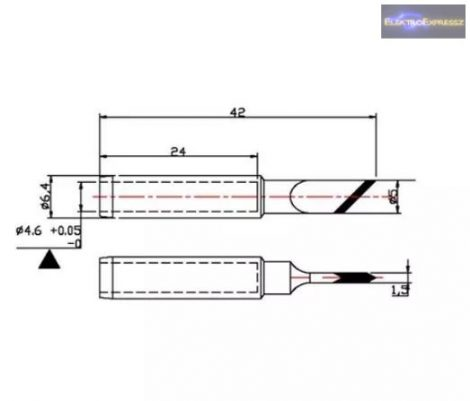 Tartalék pákahegy ZD-8919 N9-56