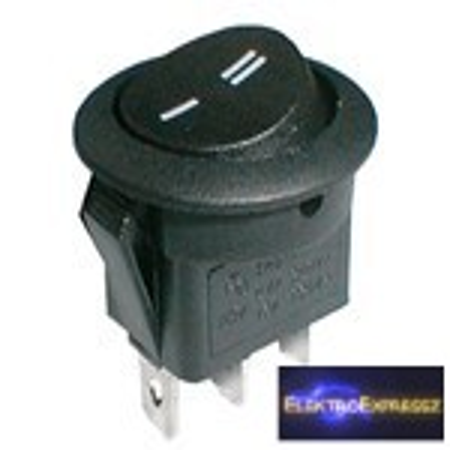 CZ-02620036-Billenő kapcsoló 2pol./3pin ON-ON 250V/6A (kerekített) - fekete
