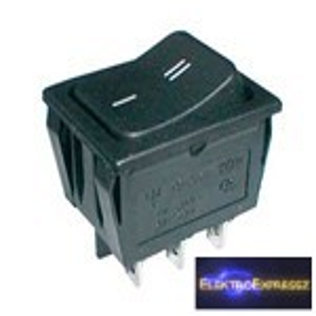CZ-02620042-Billenő kapcsoló 2pol./6pin ON-ON 250V/15A - fekete