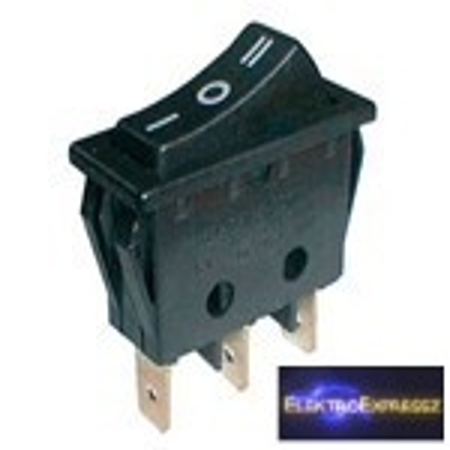 CZ-02620052-Billenő kapcsoló 3pol./3pin (ON)-OFF-(ON) 250V/15A - fekete