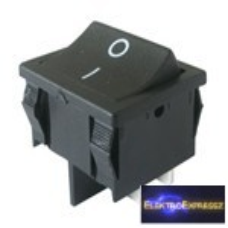 CZ-02620056-Billenő kapcsoló 2pol./4pin ON-OFF 250V/6A fekete