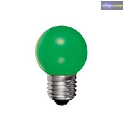Minigömb izzó E27 15W zöld