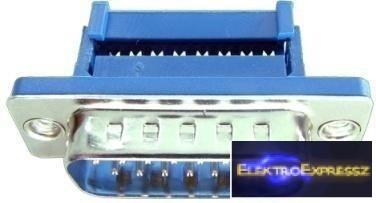 EMF 02 111 Számítógép csatlakozó dugó 15 pólusú