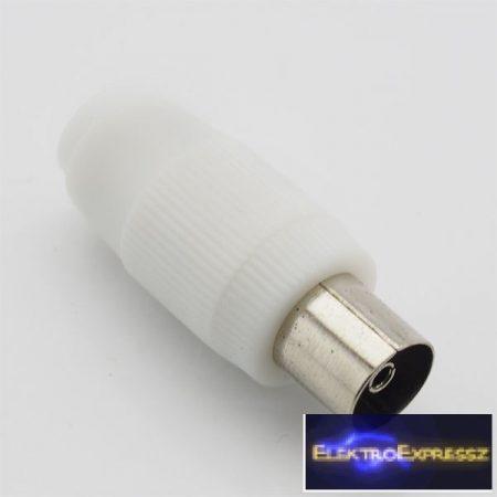 ET-1004 koax aljzat , fehér műanyag házban.