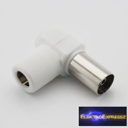 ET-1012 90 fokos koax aljzat. Fehér burkolattal.