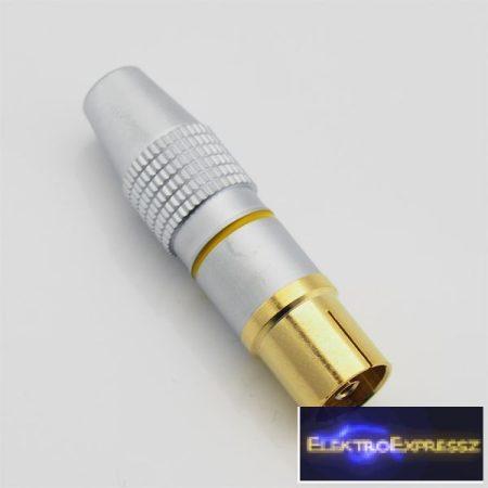 ET-1053 Professzionális aranyozott koax aljzat. Kiváló kontaktust biztosít, forrasztható kivitelű