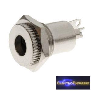 ET-2049 Beépíthető fém DC táp aljzat, 2,5mm/5,5mm