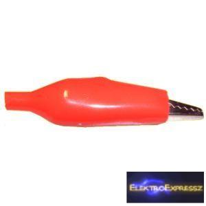 ET-2068 Krokodil csipesz, közepes, piros