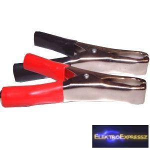 ET-2073 50A akkumulátor csipesz. Piros és fekete jelöléssel.